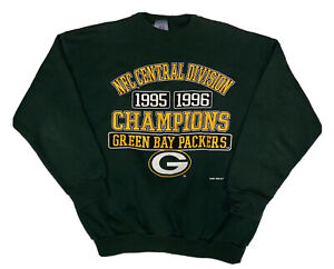 Vtg 1996 Logo 7 Green Bay Packers NFC Champions Men's Sweater Size Large