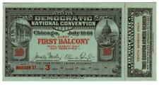 1940 USA Political-Democratic Convention Ticket - Franklin Roosevelt-Never Used