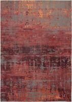 Atlantic Streaks Nassau Red 9125 Louis de Poortere Modern Abstract Faded Rugs