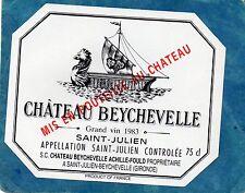 SAINT JULIEN 4E GCC ETIQUETTE CHATEAU BEYCHEVELLE 1983   §15/01§