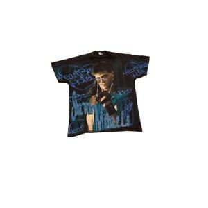 WWF 1995 Shawn Michaels HBK Vintage All Over Glitter Print T-Shirt WWE XL ORIG