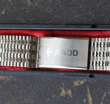 Steel Rado vintage band Swiss NSA bracelet 7-row with 18mm curved ends 1960s/70s