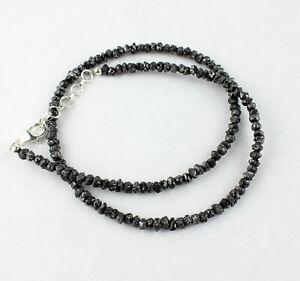Black Raw Diamond Chain Gemstone Sparkling Size Rohdiamant 75 CT /19 11/16in