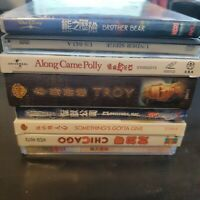 Lot sale of 8 DVD Vcd  Chinese Movies Brother Bear Monsters Inc Troy Chicago