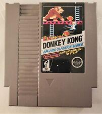 Donkey Kong Arcade Classics Series - Nintendo NES - VERY RARE 3 SCREW VARIANT