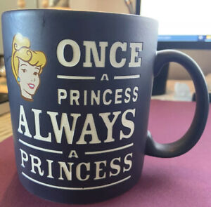 Disney Parks Cinderella Once a Princess Always a Princess Purple Coffee Mug Cop