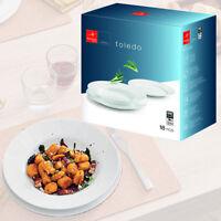 Bormioli Rocco Toledo 18 Piece Opal Glass Dinner Service Set Tableware Dining