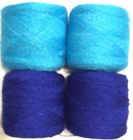 Lace yarn Crystal Colors #26 & 139 Acrylic/Rayon. 900 yards 1 set of 4