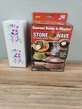 Stone Wave Microwave Cooker Non-Stick Ceramic Stoneware Baking Pan