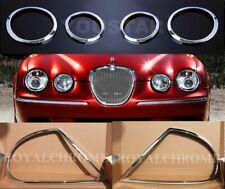 Luxury COMBO Set  ROYAL CHROME Head & Rear Light Trims for JAGUAR S-Type 98-03
