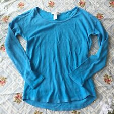Brand New Level Eight Long Sleeve Knit Top - Blue (Size X-Small)