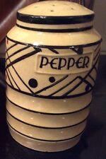 Vintage Moriyama Handpainted Japan Pepper Shaker Dispenser Red Black