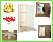In Wall Swiveling Ironing Board Out Cabinet Rotates Built In Cut into White NEW