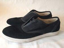 "Clae ""Bruce"" 7/40 Black Canvas Leather Slip On Shoe Used"
