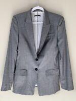 Boss Hugo Boss Womens Two Button Notched Lapel Blazer Gray Size 8 Juicyda A48