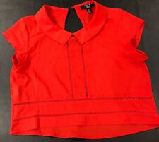 paper heart red short sleeve cropped   top 12