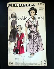 """Vintage 1960s Maudella Sewing Pattern LADIES BELTED BLOUSE-DRESS DAY DRESS 36"""""""
