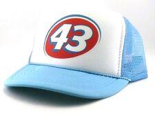 Vintage Richard Petty 43 hat trucker hat Nascar racing hat The King light blue
