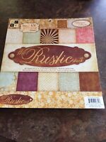 "NEW!NEVER USED! DCWV The Rustic Stack 48 Sheets 12""x12"" Scrap/Paper/Card Crafts"