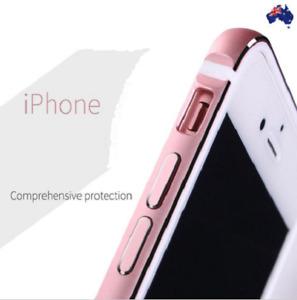Aluminum Metal Bumper Frame TPU Rubber Inside Case for iPhone 6 7 8 Plus X