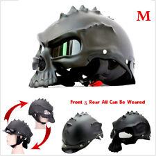 Skull Motorcycle Helmet Vintager Retro Motorbike Capacetes Cascos black Size M