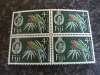 FIJI POSTAGE STAMPS SG321 4/- BLOCK OF 4 UN-MOUNTED MINT