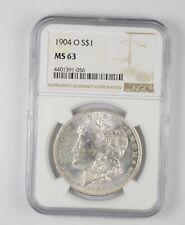MS63 GRADED - 1904-O Morgan Silver Dollar- NGC *942