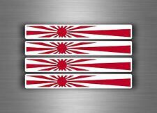 4x sticker decal car stripe motorcycle racing flag moto tuning rising sun japan
