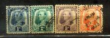 1932 Malaya Malaysia Sarawak 1c to 4c