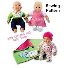 "Kwik Sew K3834 Pattern 16"" Baby Doll Clothes OSZ BN"