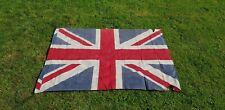 More details for antique vintage large union jack flag stitched linen 48
