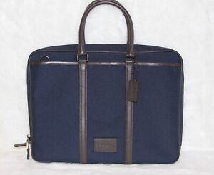 💚 COACH Mens Metropolitan Slim Brief Business Laptop Case $395 NWTT