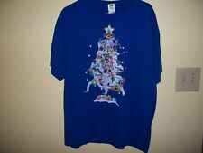 LA Dodgers Christmas Tree Tee Shirt-XL-Used-Excellent Condition