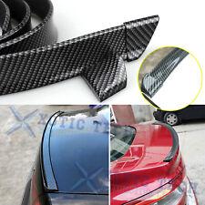 Sport Carbon Fiber Rear Trunk Tail Spoiler Wing Lip Trim Decor Sticker Universal (Fits: Scion tC)