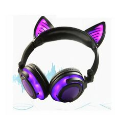 Wireless Headphones With Cat Ears LED Glowing Foldable Bluetooth Earphones Gift