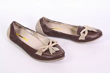 1D Manas Design Ballerinas Schuhe Velours Leder braun Gr. 40 Mokassins Loafer