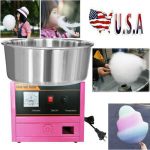 Commercial Electric Machine Kids Party Sugar Floss Cotton Candy Maker Pink
