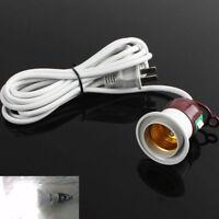 Retro E27 Edison Screw Light Lamp Holder Socket Switch Power US Plug Cable Cords