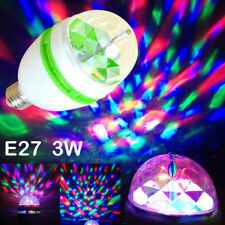 USA 3W RGB LED Color Rotating Lamp Disco Party Bar Club Effect Stage Light