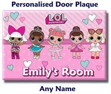 Lol Surprise Dolls Door Name Plaque Sign bedroom girl kids child childrens gift
