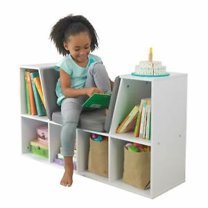 KidKraft Bookcase with Reading Nook - White