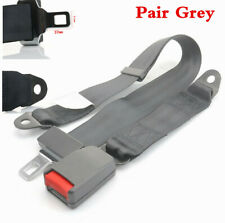 2Pair Two Point Grey Seat Belt SAFETY BELT Universal Fit for most CAR Model