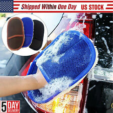 Car Cleaning Glove Auto Wash Clean Sponge Brush Glass Cleaner Cloth Care Mitt US