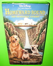 Homeward Bound The Incredible Journey VHS Walt Disney Movie 1993