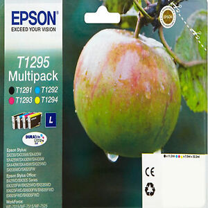 Epson T1295 Apple Genuine Ink Cartridges High Capacity T1291 T1292 T1293 T1294 X