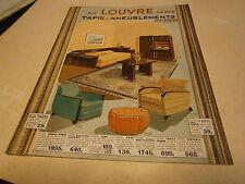Publicité magasin Au bon Louvre Paris  1934  tapis ameublement bronze lampe