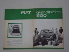 advertising Pubblicità 1960 FIAT 500 GIARDINIERA