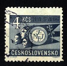 CZECHOSLOVAKIA - CECOSLOVACCHIA - 1947 - Primo Festival Mondiale della Gioventù