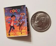 Miniature dollhouse Disney Princess book Barbie 1/12  Coco Movie Dog Skeleton