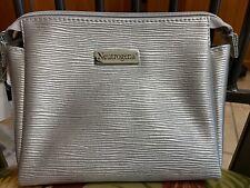 Neutrogena Silver Cosmetic MakeUp Bag Nice Size New